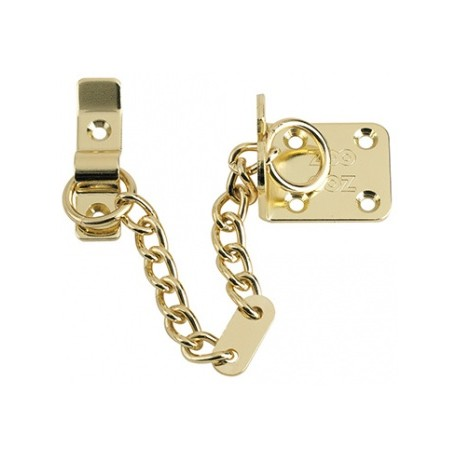Heavy Duty Security Door Chain Polished Brass