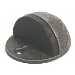 44mm x 26mm Hand Forged Floor Mounted Door Stop Pewter