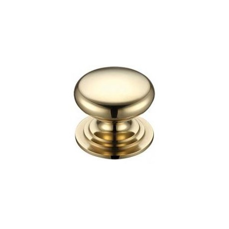 32mm Victorian Cabinet Knob Polished Brass