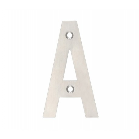 "100mm Letter ""A"" Satin Stainless Steel"