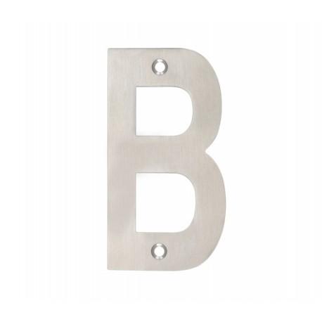 "100mm Letter ""B"" Satin Stainless Steel"