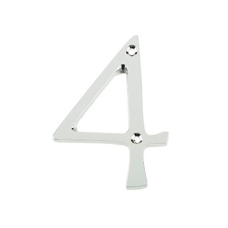 "Jedo 75mm Numeral ""4"" Polished Chrome"
