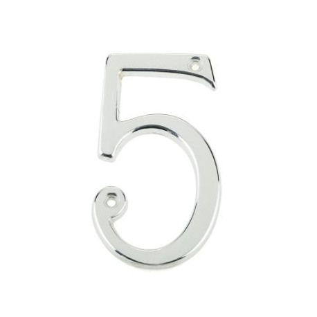 "75mm Numeral ""5"" Polished Chrome"
