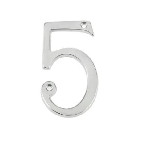"75mm Numeral ""4"" Satin Chrome"