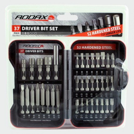 Addax 37 Piece S2 Hardened Steel Driver Bit Set