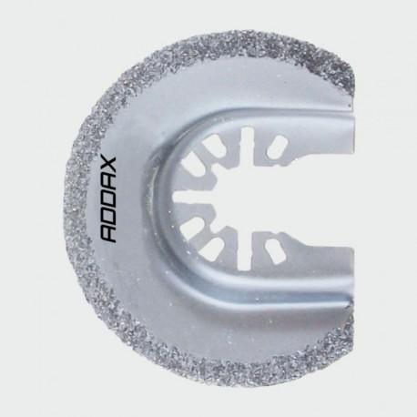 Addax 65mm Dia. Multi Fit Radial Grit Multi-Tool Blade Suitable For Ceramic & Porous Concrete