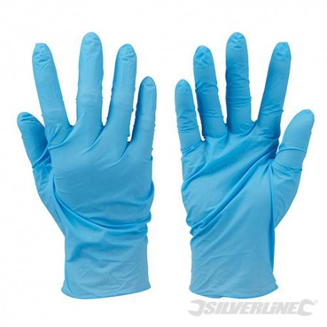 Powder Free Nitrile Gloves Extra Large Liquid Proof - Blue (100 Per Pack)