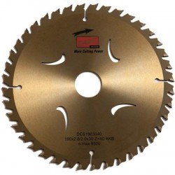 DART Gold ATB Wood Saw Blade 190mm Dia. x 30mm Bore x 40 Teeth