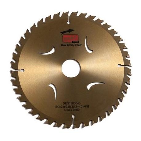 DART Gold ATB Wood Saw Blade 190mm Dia. x 30mm Bore x 40 Teeth