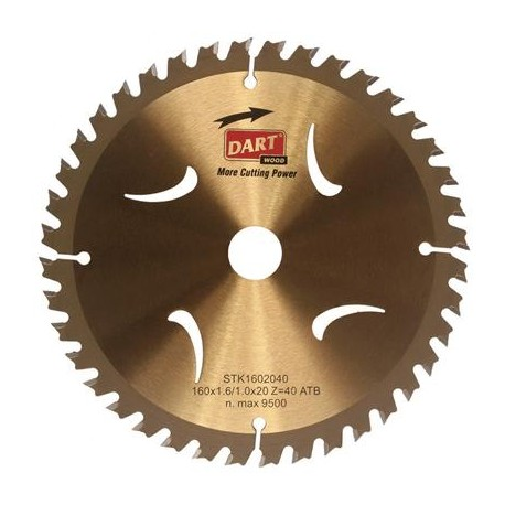 DART Gold ATB Wood Saw Blade 165mm Dia. x 20mm Bore x 40 Teeth
