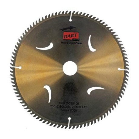 DART Gold ATB Wood Saw Blade 216mm Dia. x 30mm Bore x 60 Teeth