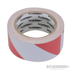PVC Hazard Tape - 50 x 33Mtr - Red/White