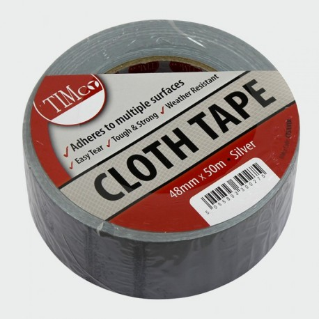 Cloth Duct Tape 48mm x 50 Meter Silver