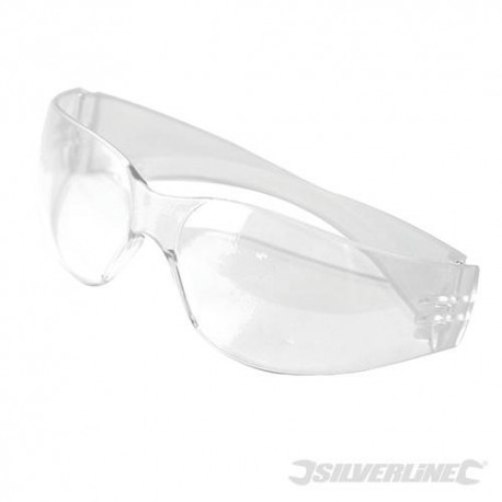 Safety Glasses c/w Impact & Scratch Resistant Curved Polycarbonate Lens UV Protection