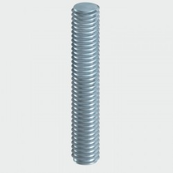 M6 x 3000mm Threaded Bar Zinc Plated