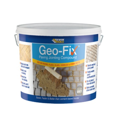 Geo-Fix Paving / Pointing Mortar 20kg Bucket - Grey. Finish