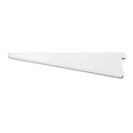 120mm Twin Slot Shelving Bracket White