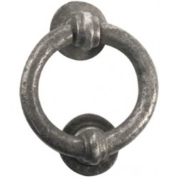 Hand Forged Ring Door Knocker Pewter