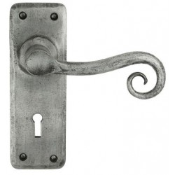 Chester Hand Forged Lever Lock Door Pewter