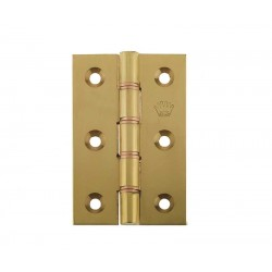 76mm Double Phosphur Bronze Washered Butt Hinges Polished Brass