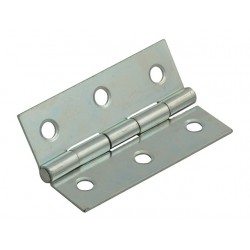 75mm Steel Butt Hinges Zinc Plated
