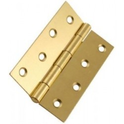 100mm Steel Butt Hinges Electro Brass