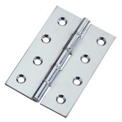 102mm Double Phosphor Bronze Washered Butt Hinges Satin Chrome