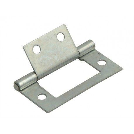 60mm Flush Hinges Zinc Plated