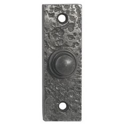 Hand Forged Door Bell Push Pewter