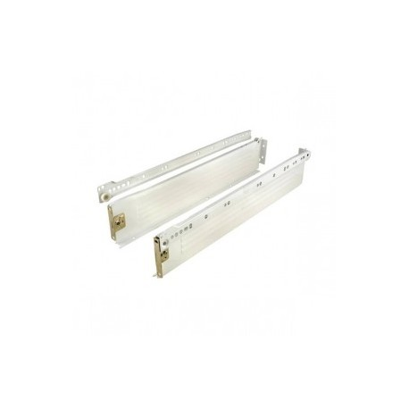 450mm x 151mm Metal Draw Runners Light Cream