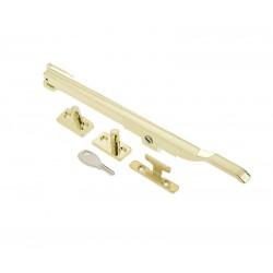 250mm Modern Locking Casement Stay Polished Brass