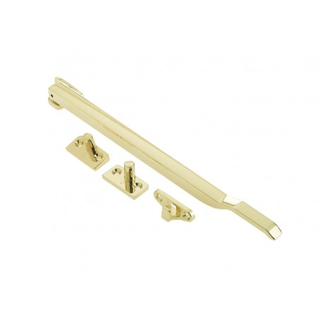 250mm Modern Non Locking Casement Stay Polished Brass