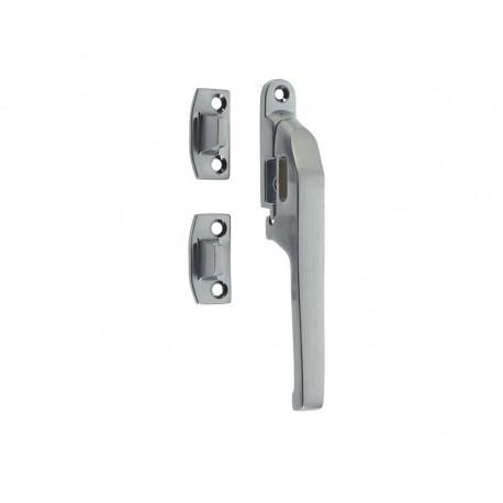 Modern Non Locking Casement Fastener c/w Wedge Plate Satin Chrome