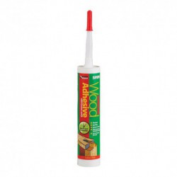 Everbuild Polyurethane Wood Adhesive 5 Minute Gel 310mm Cartridge Translucent
