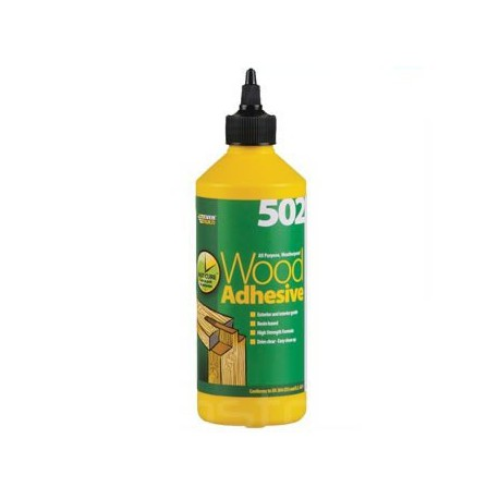 "Everbuild ""502"" Wood Adhesive All Purpose Weatherproof 1 Litre"