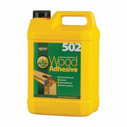 "Everbuild ""502"" Wood Adhesive All Purpose Weatherproof 5 Litre"