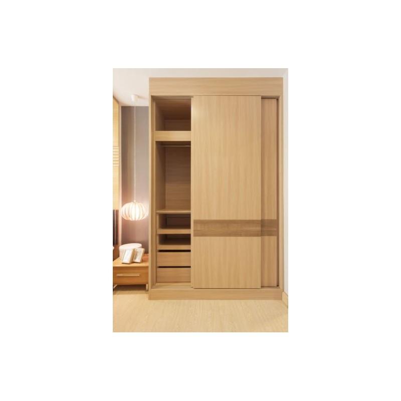 P C Henderson Slipper 1200mm Track Length Sliding Wardrobe Door Hardware for Doors Weighing up to 45kg