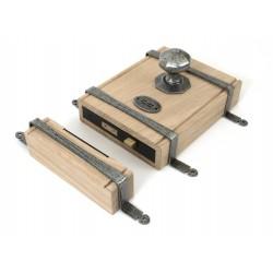 From The Anvil Pewter Oak Box Lock & Octagonal Knob Set