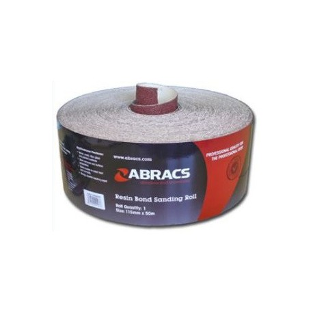 115mm Aluminium Oxide 100 Grit Sand Paper 50 Metre Roll