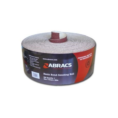 115mm Aluminium Oxide 120 Grit Sand Paper c/w E Weight Backing & Resin Coated