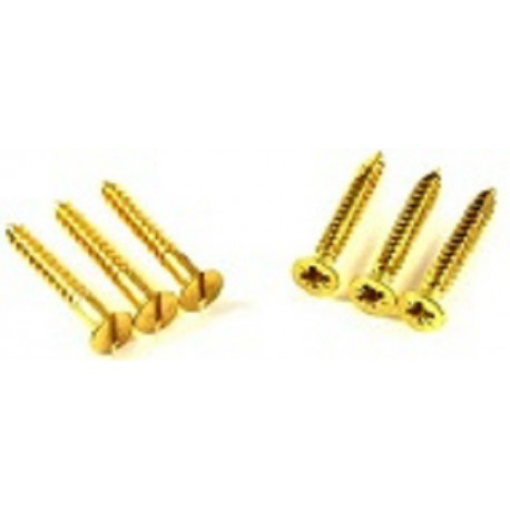 "6 x 1 1/2"" Csk Woodscrews Brass"