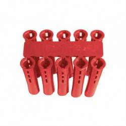 Red Plastic Fixing 6mm Wallplug *