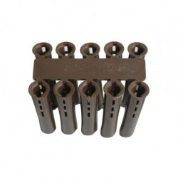 Brown Plastic Fixing 7mm Wallplug