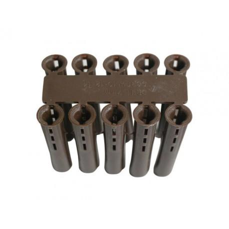Brown Plastic Fixing 7mm Wallplug *