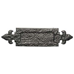 Kirkpatrick 1073 Black Antique Letter Plate