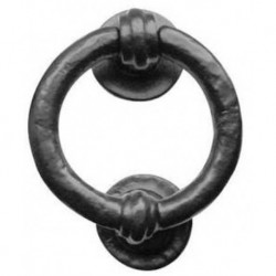 Trent Ring Door Knocker Black Antique