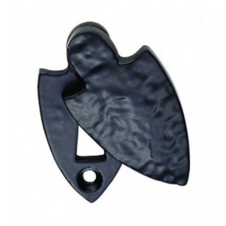 Shield Covered Escutcheon Black Antique