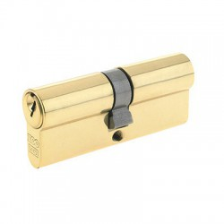 5 Pin 35mm x 35mm Anti Pick & Drill Europrofile Double Cylinder Keyed To Differ - Polished Brass
