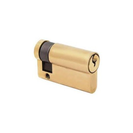5 Pin 45mm Euro Profile Single Cylinder Polished Brass