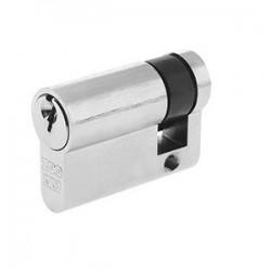 5 Pin 45mm Anti Pick & Drill Europrofile Single Cylinder Keyed To Differ - Satin Chrome